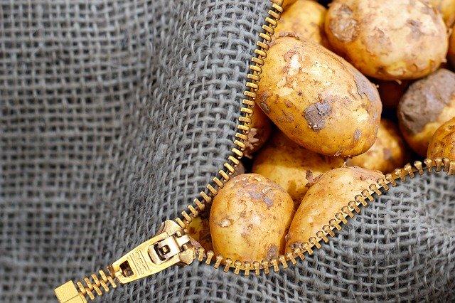 textilní sáček na brambory