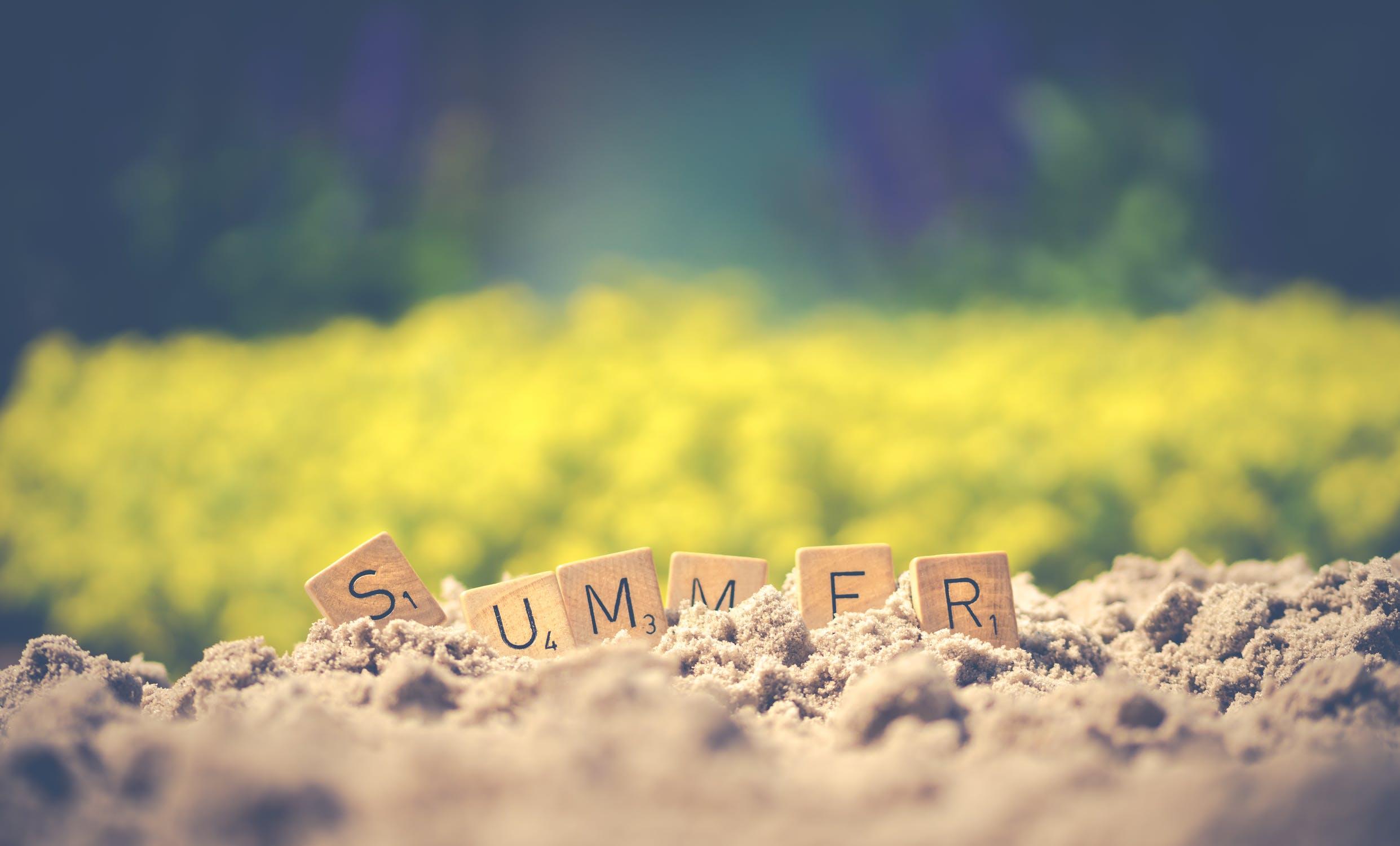 nápis summer
